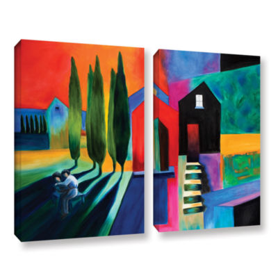 Brushstone Trying To Talk Her Into It 2-pc. Gallery Wrapped Canvas Wall Art