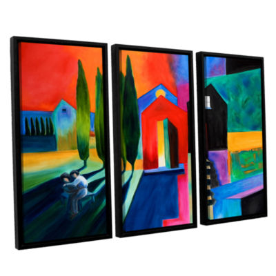 Brushstone Trying To Talk Her Into It 3-pc. Floater Framed Canvas Wall Art