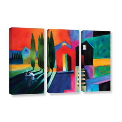 Brushstone Trying To Talk Her Into It 3-pc. Gallery Wrapped Canvas Wall Art