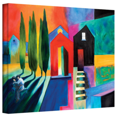 Brushstone Trying To Talk Her Into It Gallery Wrapped Canvas Wall Art