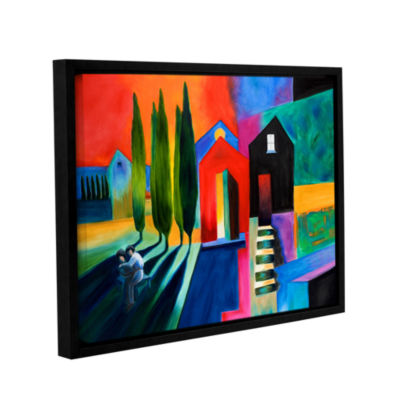 Brushstone Trying To Talk Her Into It Gallery Wrapped Floater-Framed Canvas Wall Art