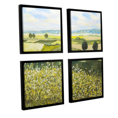 Brushstone Top Of The Hill 4-pc. Square Floater Framed Canvas Wall Art