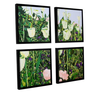 Brushstone Tulip Delight 4-pc. Square Floater Framed Canvas Wall Art