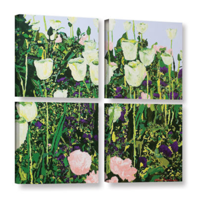 Brushstone Tulip Delight 4-pc. Square Gallery Wrapped Canvas Wall Art