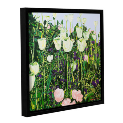 Brushstone Tulip Delight Gallery Wrapped Floater-Framed Canvas Wall Art