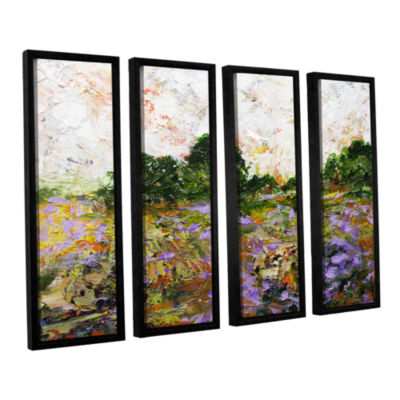 Brushstone Trowbridge 4-pc. Floater Framed CanvasWall Art