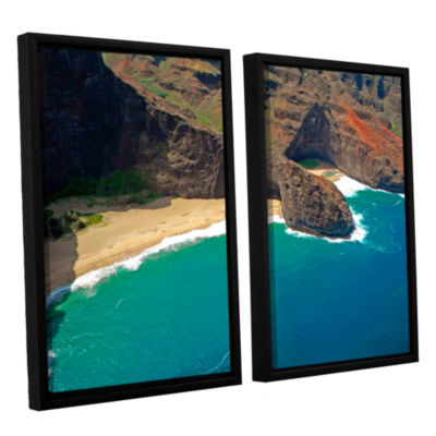 Brushstone Turtle Head Sea Cave Napali Coast 2-pc.Floater Framed Canvas Wall Art