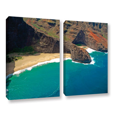 Brushstone Turtle Head Sea Cave Napali Coast 2-pc.Gallery Wrapped Canvas Wall Art