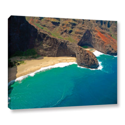 Brushstone Turtle Head Sea Cave Napali Coast Gallery Wrapped Canvas Wall Art