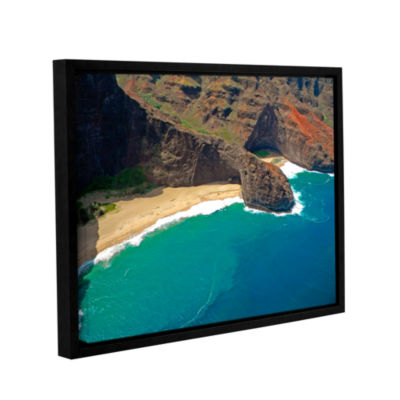 Brushstone Turtle Head Sea Cave Napali Coast Gallery Wrapped Floater-Framed Canvas Wall Art