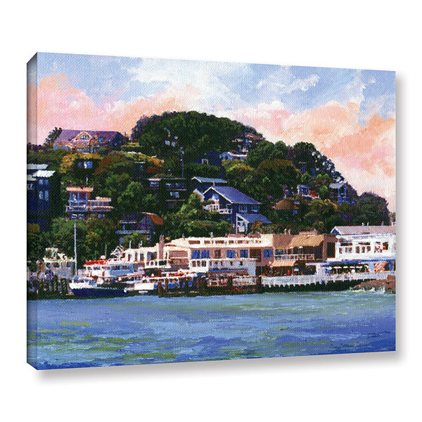 Brushstone Tiburon California Waterfront Gallery Wrapped Canvas Wall Art