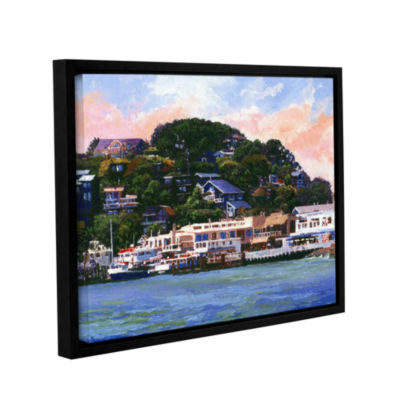 Brushstone Tiburon California Waterfront Gallery Wrapped Floater-Framed Canvas Wall Art