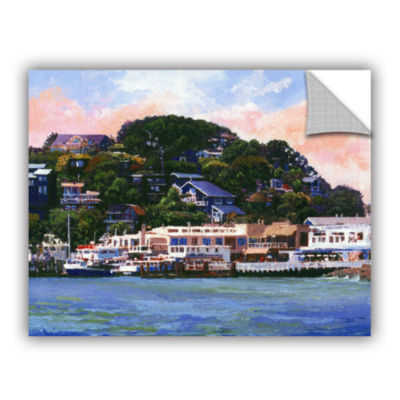 Brushstone Tiburon California Waterfront RemovableWall Decal