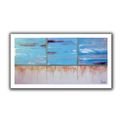 Brushstone Turquoise And Gold Canvas Wall Art
