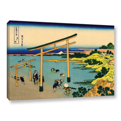 Brushstone The Waterfall Of Amida Behind The KisoRoad Gallery Wrapped Canvas Wall Art