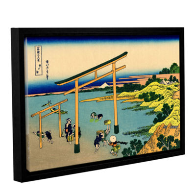 Brushstone The Waterfall Of Amida Behind The KisoRoad Gallery Wrapped Floater-Framed Canvas Wall Art