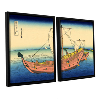 Brushstone The Kazusa Province Sea Route 2-pc. Floater Framed Canvas Wall Art