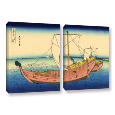 Brushstone The Kazusa Province Sea Route 2-pc. Gallery Wrapped Canvas Wall Art