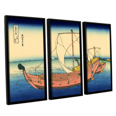 Brushstone The Kazusa Province Sea Route 3-pc. Floater Framed Canvas Wall Art