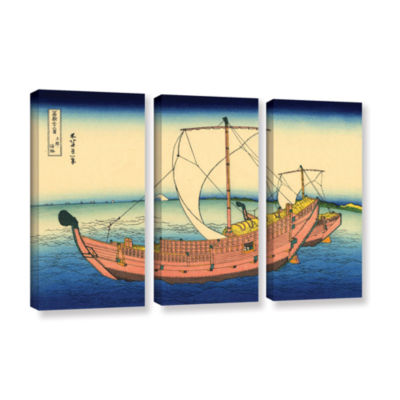 Brushstone The Kazusa Province Sea Route 3-pc. Gallery Wrapped Canvas Wall Art