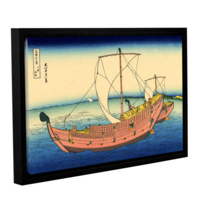 Brushstone The Kazusa Province Sea Route Gallery Wrapped Floater-Framed Canvas Wall Art