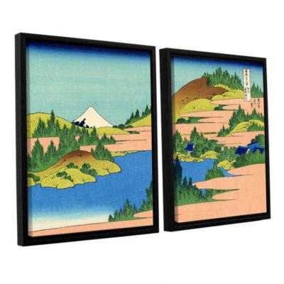 Brushstone The Lake Of Hakone 2-pc. Floater FramedCanvas Wall Art