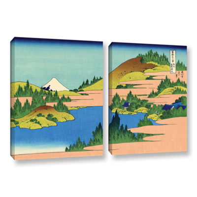Brushstone The Lake Of Hakone 2-pc. Gallery Wrapped Canvas Wall Art