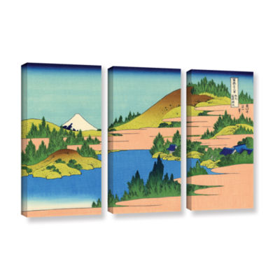Brushstone The Lake Of Hakone 3-pc. Gallery Wrapped Canvas Wall Art