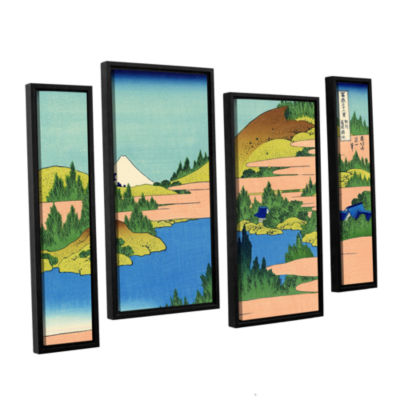 Brushstone The Lake Of Hakone 4-pc. Gallery Wrapped Staggered Canvas Wall Art