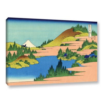 Brushstone The Lake Of Hakone Gallery Wrapped Canvas Wall Art