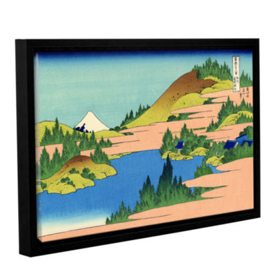Brushstone The Lake Of Hakone Gallery Wrapped Floater-Framed Canvas Wall Art