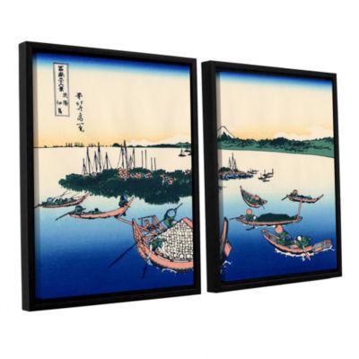 Brushstone Tsukuda Island In Musashi Province 2-pc. Floater Framed Canvas Wall Art