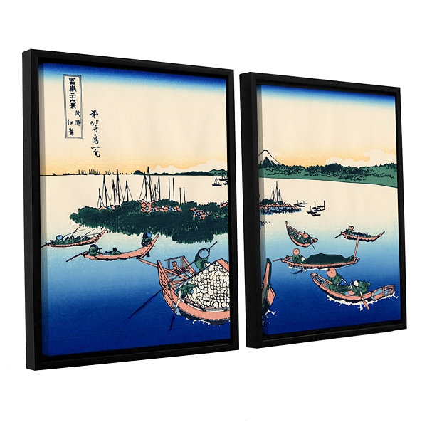Brushstone Tsukuda Island In Musashi Province 2-pc. Floater Framed Canvas Wall Art