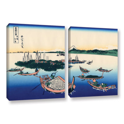 Brushstone Tsukuda Island In Musashi Province 2-pc. Gallery Wrapped Canvas Wall Art