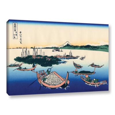 Brushstone Tsukuda Island In Musashi Province Gallery Wrapped Canvas Wall Art