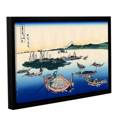 Brushstone Tsukuda Island In Musashi Province Gallery Wrapped Floater-Framed Canvas Wall Art