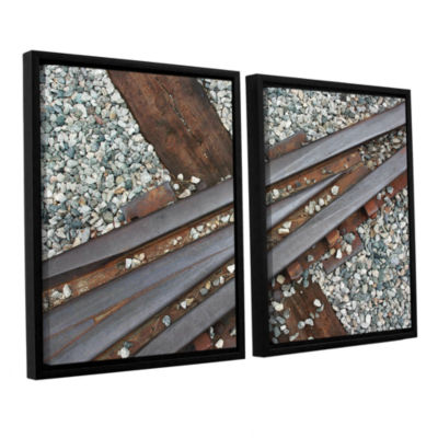 Brushstone This Way 2-pc. Floater Framed Canvas Wall Art