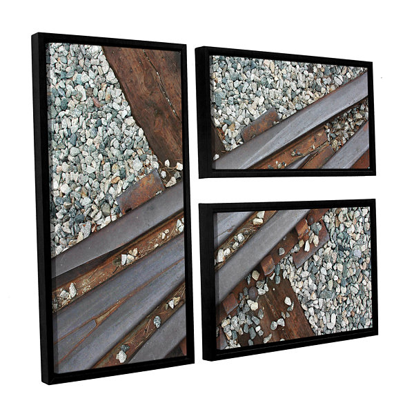 Brushstone This Way 3-pc. Flag Floater Framed Canvas Wall Art