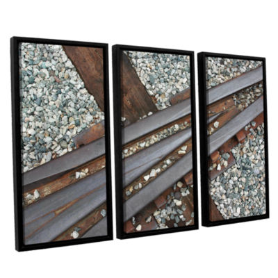 Brushstone This Way 3-pc. Floater Framed Canvas Wall Art