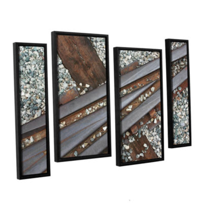 Brushstone This Way 4-pc. Floater Framed StaggeredCanvas Wall Art