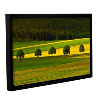 Brushstone The Only Red Hut Gallery Wrapped Floater-Framed Canvas Wall Art