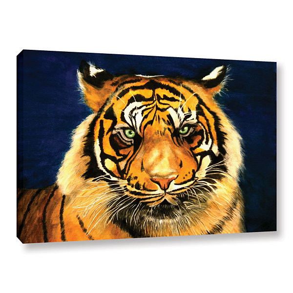 Brushstone Tiger By Lins Gallery Wrapped Canvas Wall Art
