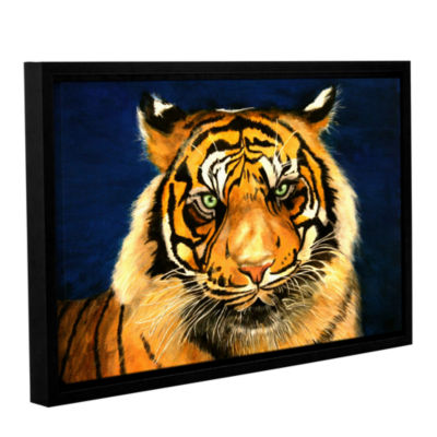 Brushstone Tiger By Lins Gallery Wrapped Floater-Framed Canvas Wall Art