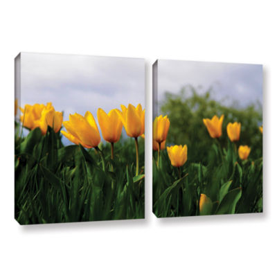 Brushstone Tulips by Lindsey Janich 2-pc. GalleryWrapped Canvas Wall Art