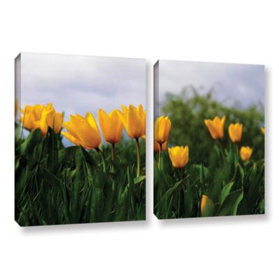Brushstone Tulips by Lindsey Janich 2-pc. GalleryWrapped Canvas Wall Art