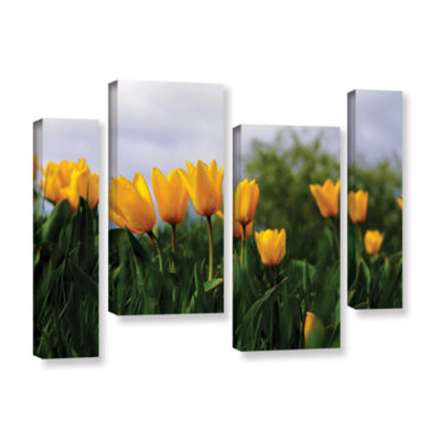 Brushstone Tulips by Lindsey Janich 4-pc. GalleryWrapped Staggered Canvas Wall Art