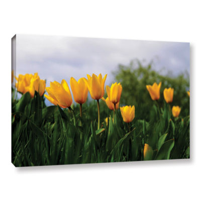 Brushstone Tulips by Lindsey Janich Gallery Wrapped Canvas Wall Art