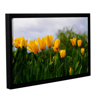 Brushstone Tulips by Lindsey Janich Gallery Wrapped Floater-Framed Canvas Wall Art