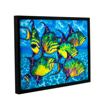 Brushstone Triggers Gallery Wrapped Floater-FramedCanvas Wall Art