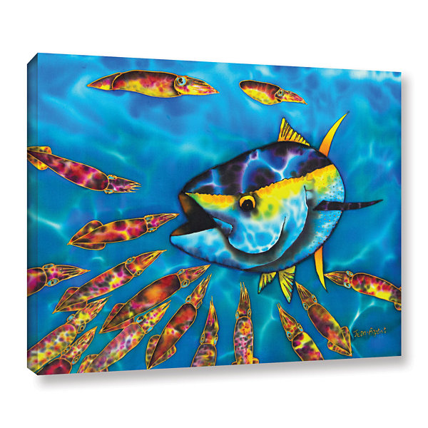 Brushstone Tuna & Squid Gallery Wrapped Canvas Wall Art